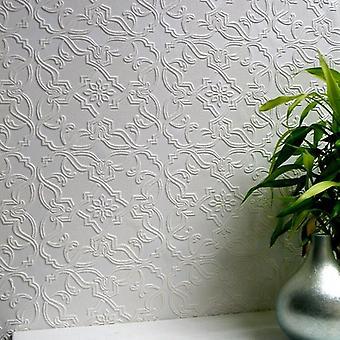 Paintable Wallpaper Luxury Textured Embossed Vinyl Easy Apply Maxwell Anaglypta