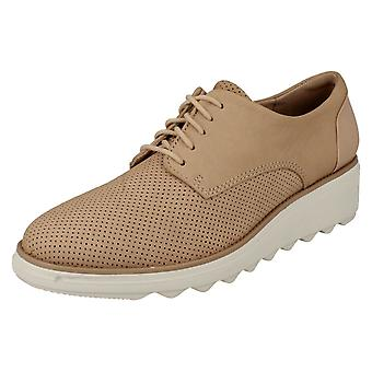 Ladies Clarks Casual snøre trenere Sharon Crystal