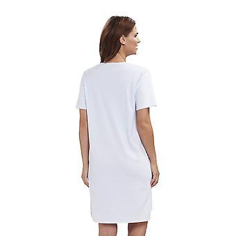 Féraud 3883140 Women's High Class Cotton Sleep Shirt Nighty Nightshirt