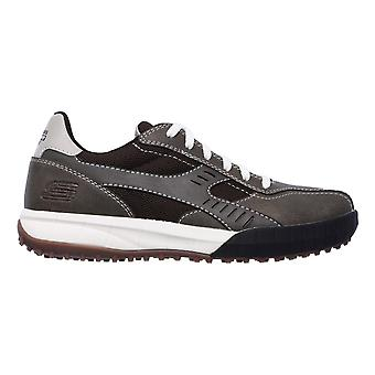 Skechers Mens Floater 2.0 Lace Up Leather Trainers