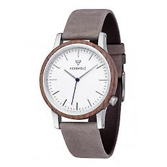 Kerbholz Herrenuhr Walter Walnuss Grau (New-Walter-Walnut-Grey)