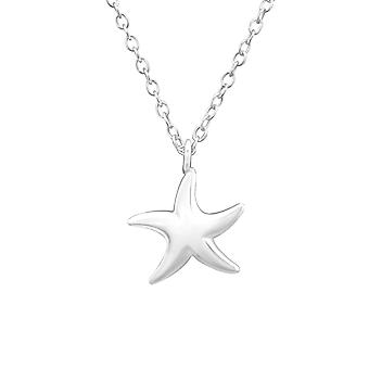 Starfish - 925 Sterling Silver Plain Necklaces - W32221x