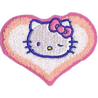 Patch - Hello Kitty - Chenille Heart Iron On Licensed Gifts Toys  p-hk-0012