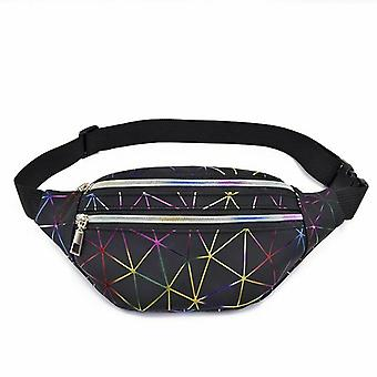 Waist bag with cool rainbow pattern