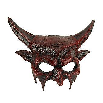 Dark Demon Adult Halloween Red Horned Devil Mask