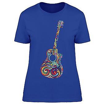 Guitar glada mönster tee kvinnor ' s-bild av Shutterstock