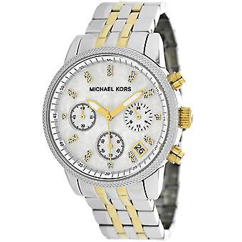 Michael Kors Mk5057 dvoutónové chronograf se sledováním kamenů
