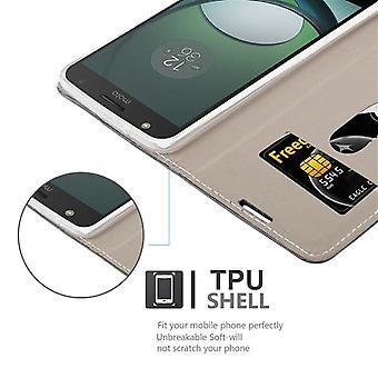 Cadorabo Hülle für Motorola MOTO Z PLAY Case Cover - Handyhülle mit Magnetverschluss, Standfunktion und Kartenfach – Case Cover Schutzhülle Etui Tasche Book Klapp Style