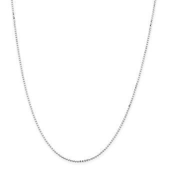 925 Sterling Argento 1.15mm Quadrato Perline Portavita Bracciale Gioielli Regali per le Donne - Lunghezza: 9 a 10