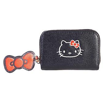 Sanrio Coin Purse Hello Kitty Logo new Official Black