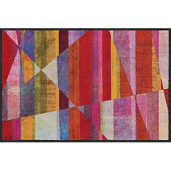 Salonloewe Doormat Inclined Stripes couleur 50 x 75 cm tapis de terre lavable