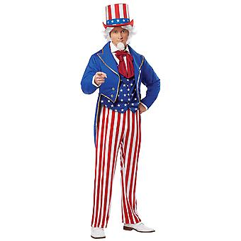 Uncle Sam American Patriotic US Independence Day 4th July Adult Mens Costume