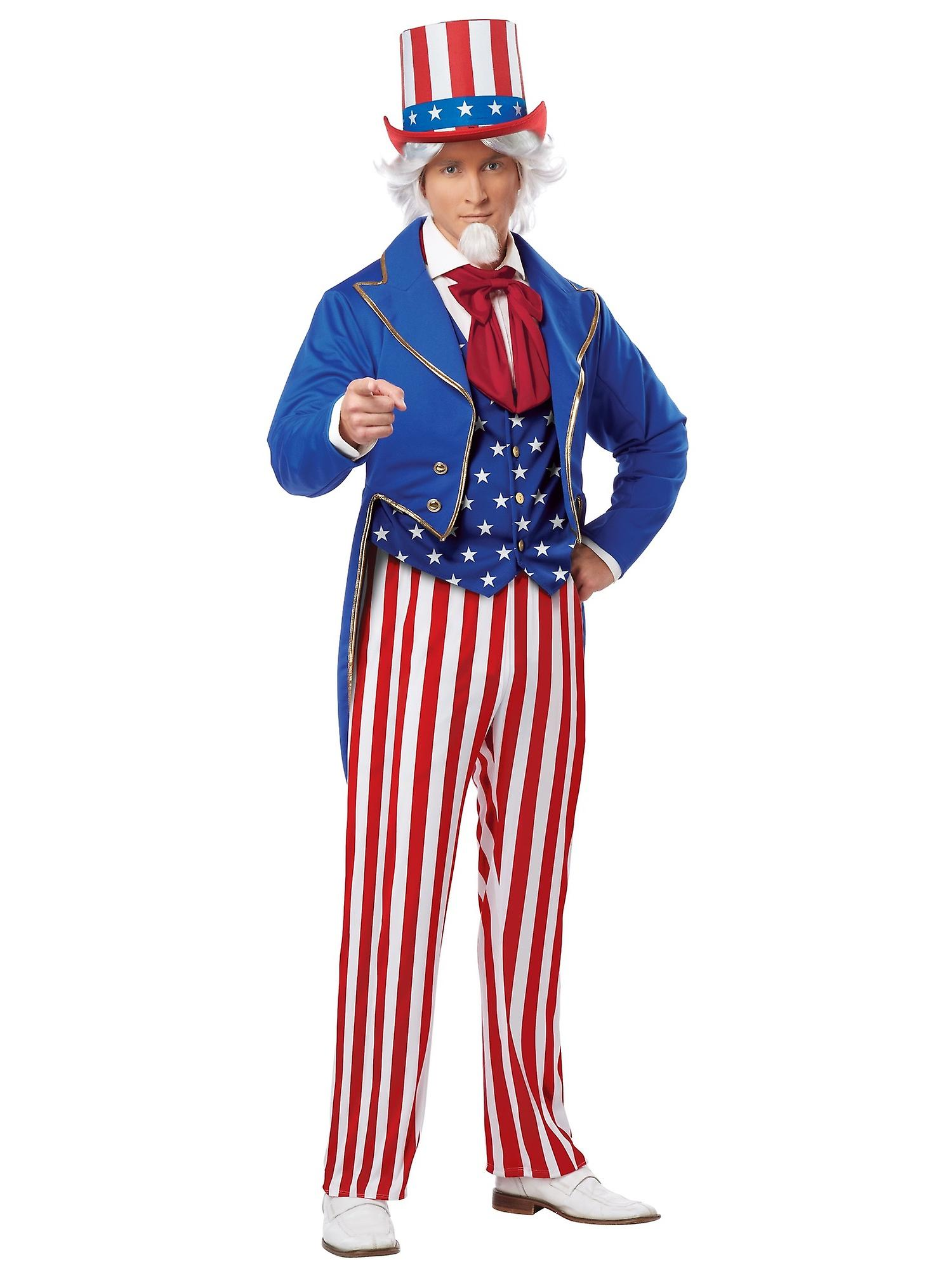 UNCLE SAM AMERICAN 4TH OF JULY ADULT MENS COSTUME