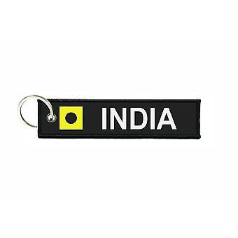 Puertas de la puerta se hunde señales de código de la bandera señal alfabeto marítimo I INDIA