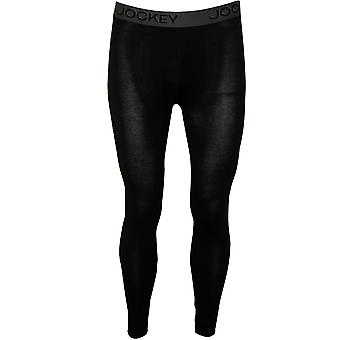 Jockey Cotton Modal Stretch Long Johns, Nero