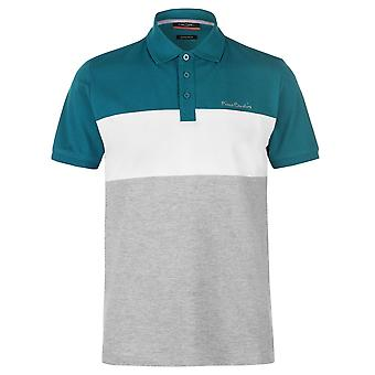 Pierre Cardin Mens Polo Shirt Classic Fit Tee Top Button Placket Regular Fold