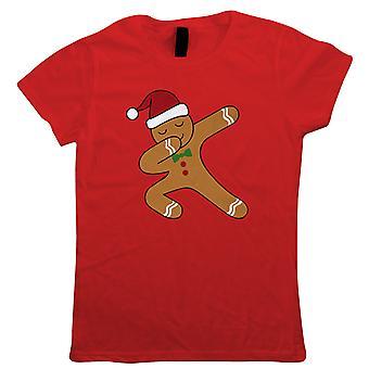 Dabbing Gingerbread man, Dame T-shirt-julegave hendes mor
