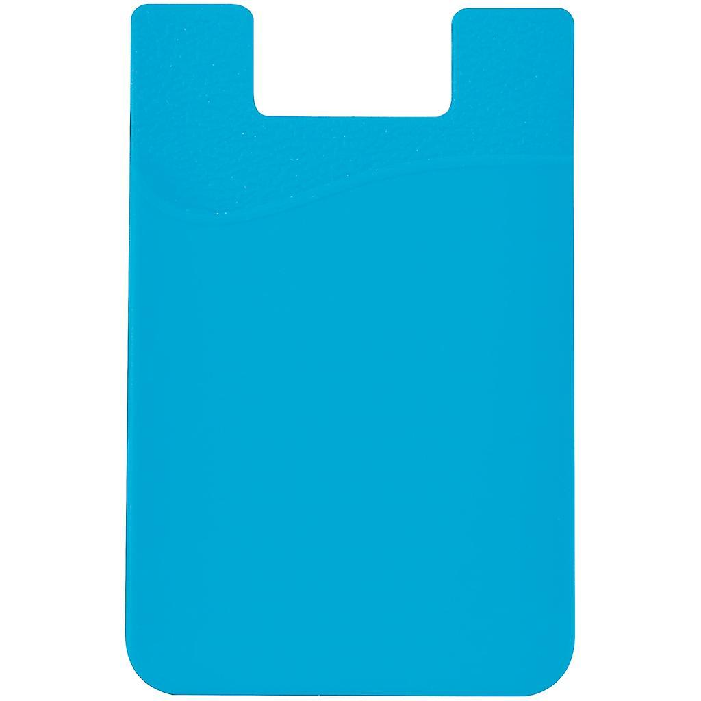 Silikon sock wallet card cash pocket sticker light blue