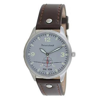 Aristo mäns Messerschmitt Watch Pilots Watch ME-109-1069G läder