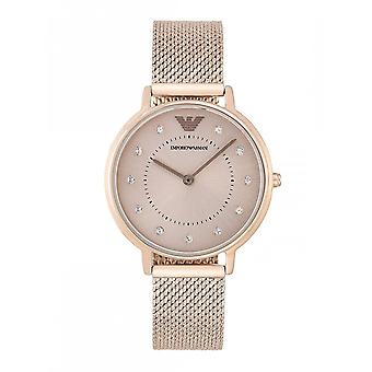 Armani Watches Armani Ar11129 Stainless Steel Mesh Rose Gold Woman's Watch