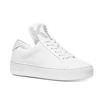 Michael Michael Kors Mindy Lace-Up Sneakers Size 8 Optical White