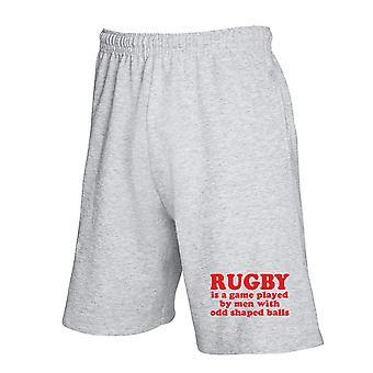 Pantaloncini tuta grigio fun2946 rugby odd shaped balls