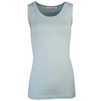Sundae Tee Victoria Aqua Sleeveless Vest