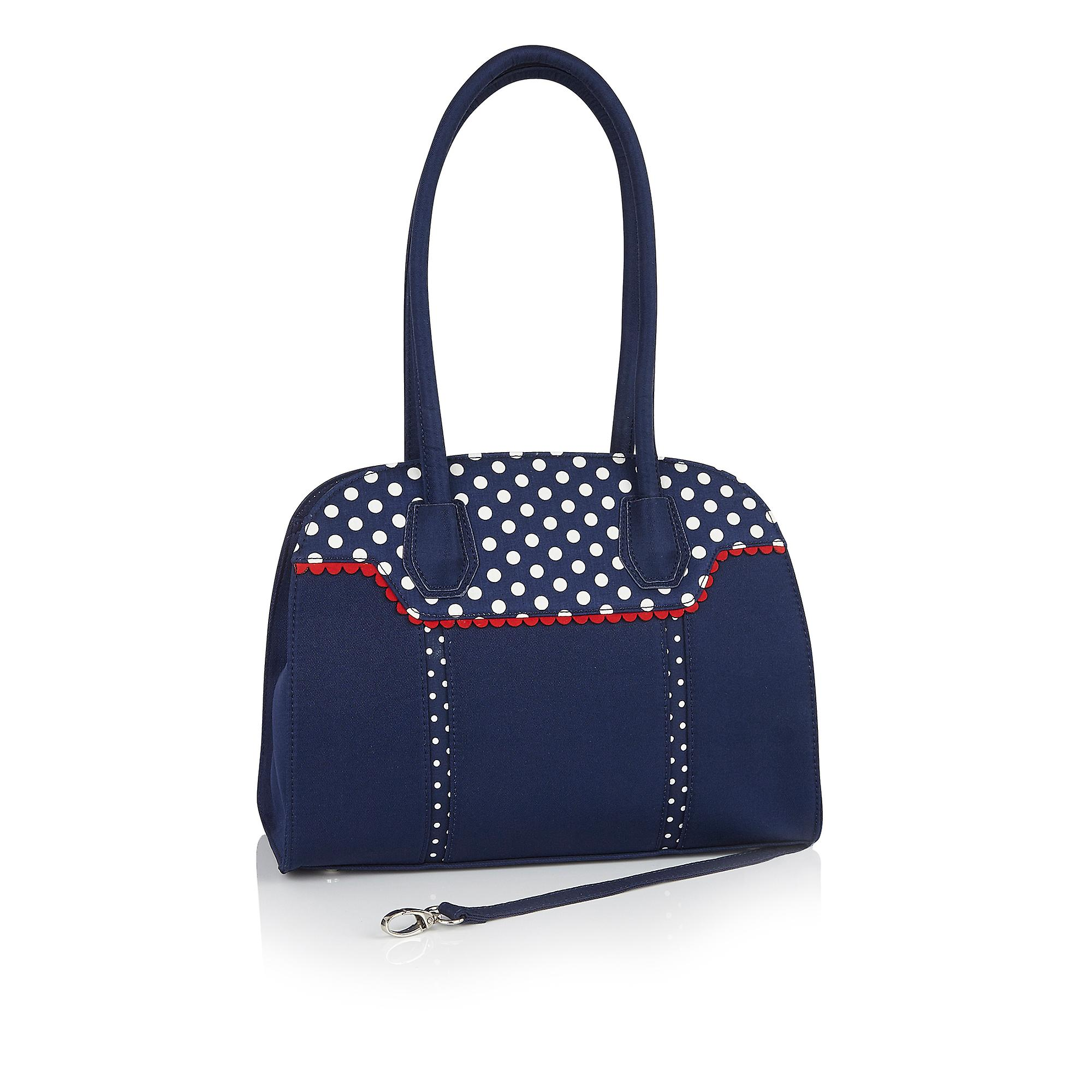 Ruby Shoo Aisha Navy Ribbon Mary Jane Booties et Matching Montpellier Bag - Remise particulière