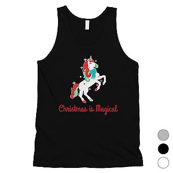 Christmas Magical Unicorn Cool Mens Tank Top Cadeau des Fêtes