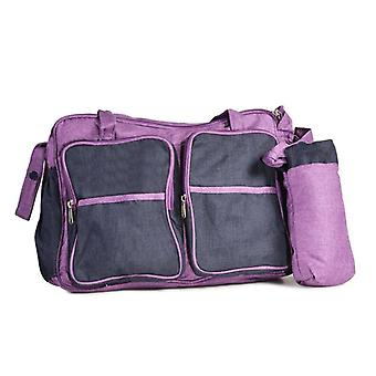 Moni wrap bag Jenny purple with wrapping pad bottle bag and shoulder strap