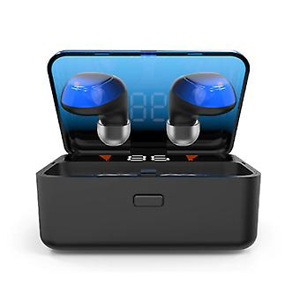 CBA ES01 TWS Wireless Smart Touch Control Earpieces Bluetooth 5.0 In-Ear Wireless Buds Earphones Earbuds Powerbank Earphone Blue