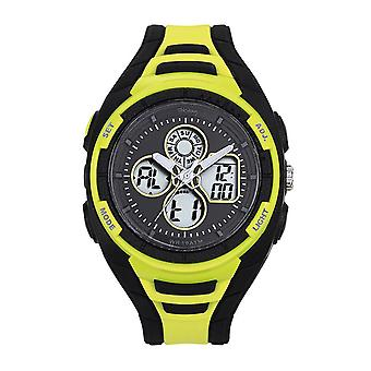 Tekday 655949 Watch - Digital Multifunction Silicone Black and Yellow Men