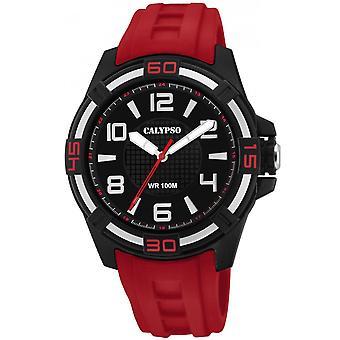 Titta på Calypso-K5760-3 - STREET STYLE armband R röd ruta R svart man sine sine