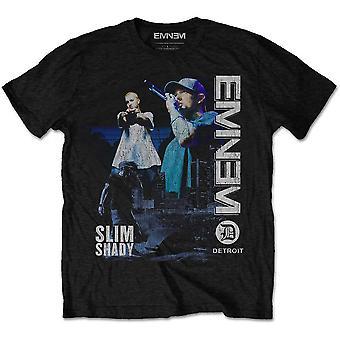 Eminem Live Stage foto Slim skumma Rap officiella T-shirt