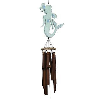 Green Mermaid Bamboo Wind Chime