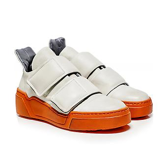 Lofina Leather Contrast Sole Trainers