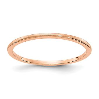 10kr 1.2mm Half Round Satin Stackable Band Ring Jewelry Gifts for Women - Ring Size: 4.5 to 10
