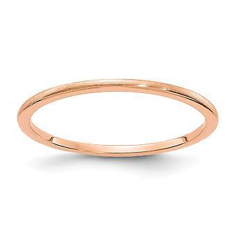 10kr 1,2 mm halbe Runde Satin stapelbar Band Ring Schmuck Geschenke für Frauen - Ring Größe: 4,5 bis 10