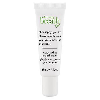哲学は深呼吸目酸素化アイジェルクリーム15mlを取る