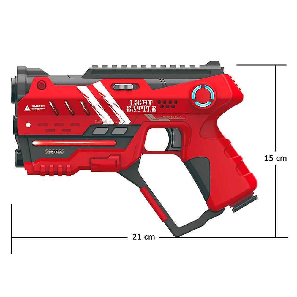 2 Anti-Cheat lasergame pistolen - groen en rood + 2 targets