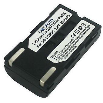 Dot.Foto Samsung SB-LSM80 erstatningsbatteriet - 7,4 v / Ion 800mAh