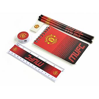 Manchester United Fade Starter 7 Piece Stationery Set