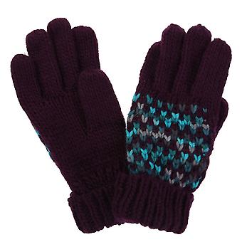 Regatta Women's Frosty III Knitted Gloves Prune S/M