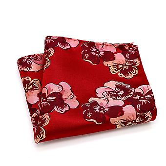 الأحمر والوردي الرجال وapos;ق الزفاف نظرة مصمم جيب مربع