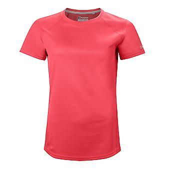 Berghaus Tech 2.0 Womens Short Sleeve Fitness T-Shirt Shirt Tee Red