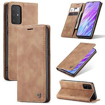 Retro Wallet Slim voor Samsung S20 Ultra L.Bruin