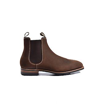 Barker Mansfield Boot Mid Brown Waxy Suede