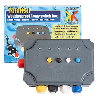 Kockney Koi Yamitsu 4 Way Weatherproof Switch Box
