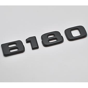 Matt Black B180 Flat Mercedes Benz Car Model Rear Boot Number Letter Sticker Decal Badge Emblem For B Class W245 W246 W247 AMG