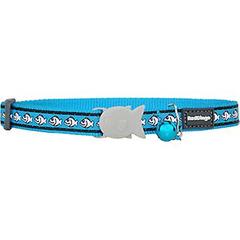Red Dingo Reflective Cat Collar 12MM Turquoise 20-32Cm